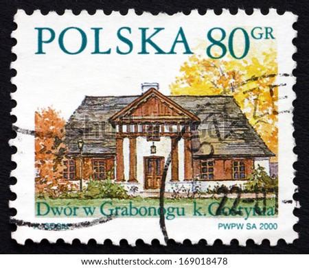 POLAND - CIRCA 2000: a stamp printed in the Poland shows Grabonog, Country Estate, Piaski, circa 2000 - stock photo