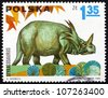 POLAND - CIRCA 1965: a stamp printed in the Poland shows Styracosaurus, Dinosaur, circa 1965 - stock photo
