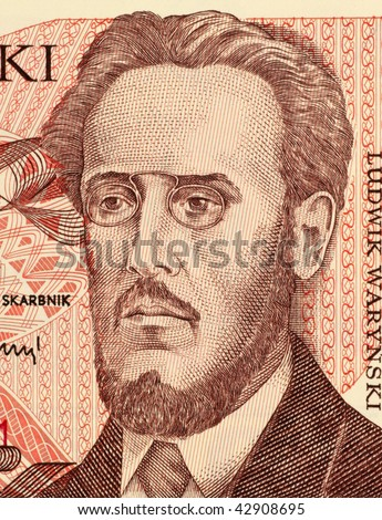 POLAND - CIRCA 1988: Ludwik Warynski on 100 Zlotych 1988 Banknote from Poland. Activist and theoretician of the socialist movement in Poland.