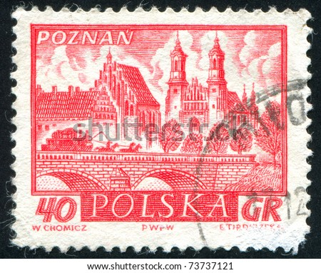 POLAND - CIRCA 1960: stamp printed in Poland, shows retro car, circa 1960.