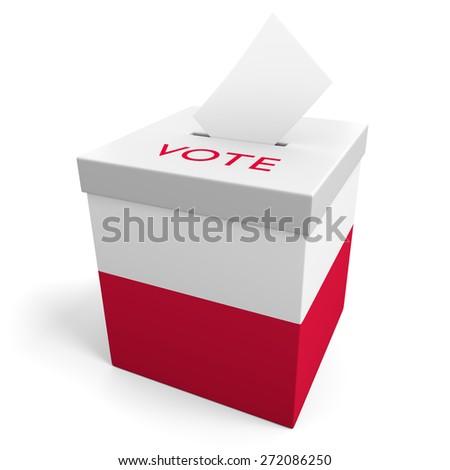 Poland election ballot box for collecting votes - stock photo
