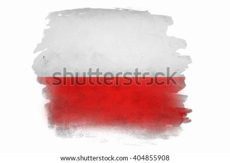 Poland flag ,grunge and retro flag series - stock photo