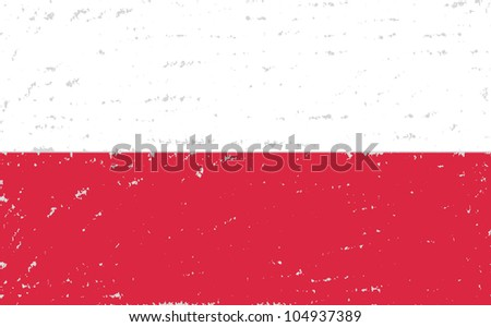 poland  grunge flag hand drawing on grey background