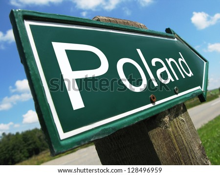 Poland road sign