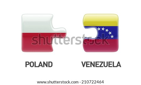 Poland Venezuela High Resolution Puzzle Concept