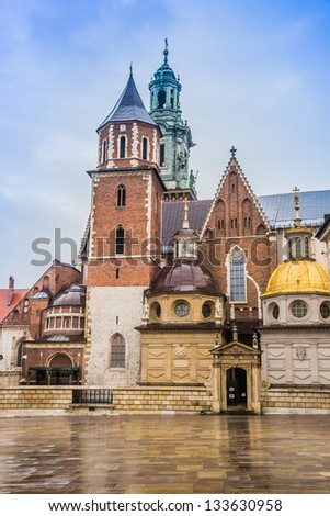 Poland, Wawel Cathedral, the part of Wawel Castle complex in Krakow - stock photo