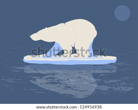 Polar Bear Illustration - stock photo