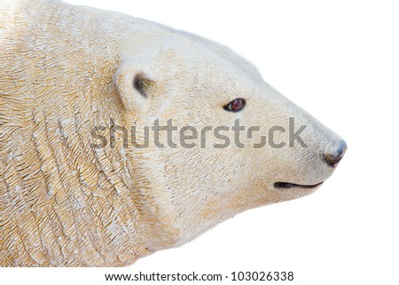polar bear on white background - stock photo