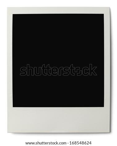 Polaroid with Copy Space Isolated on White Background. - stock photo