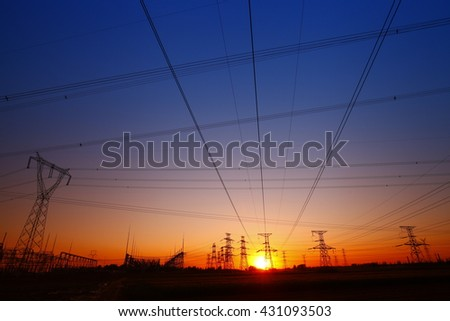 Pole and tower of high voltage