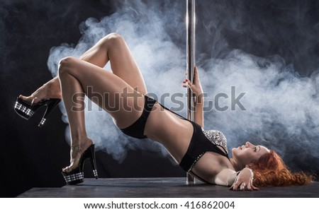 Pole dance - stock photo