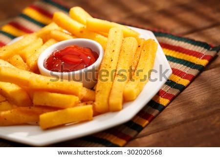 Polenta fries - stock photo