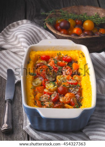 Polenta with tomatoes