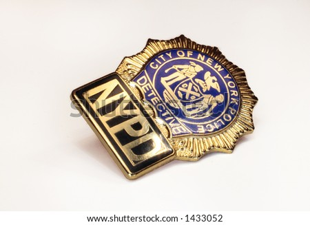 Police Badge close up of new york detectives shield - stock photo