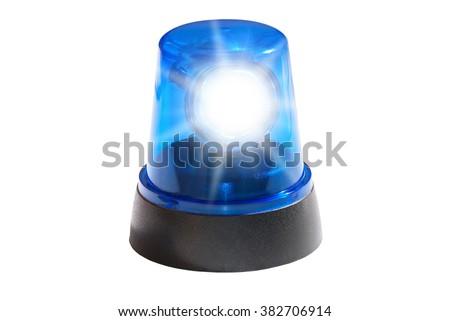 Police Blue Light - stock photo