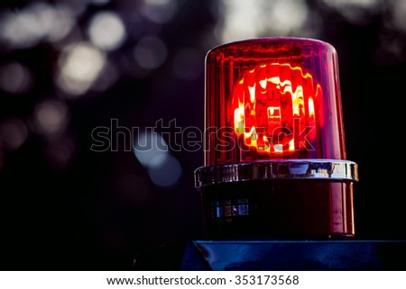 Police car lights close up. - stock photo