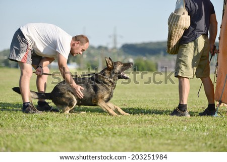 Police Dog outdoor training process