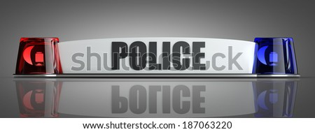 police flasher. High resolution 3d - stock photo