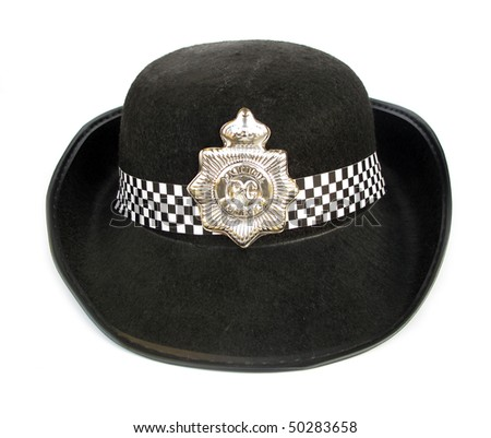 Police hat toy for children costume - stock photo