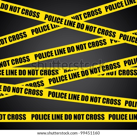 Police line. Do not cross. Crime scene background. - stock photo