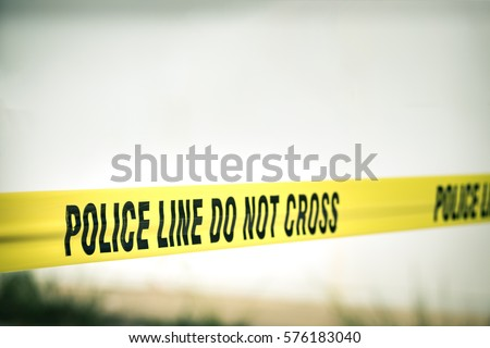 police line do not cross protection crime scene  with copy space in cinematic style