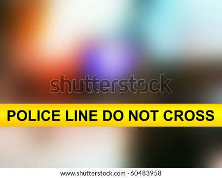 Police line do not cross yellow tape