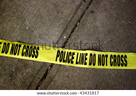 Police Line Yellow Tape - stock photo