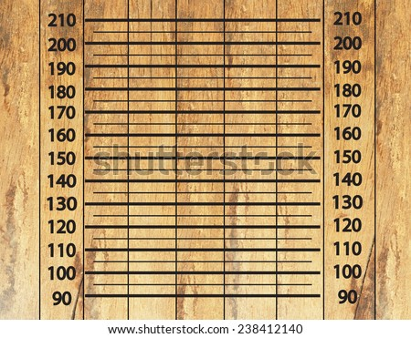 Police lineup or mugshot on wood background,mugshot - stock photo
