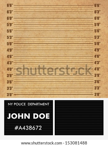 Police mugshot background. Add your text and photo - stock photo