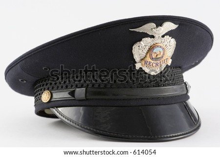Police Officer Hat - stock photo