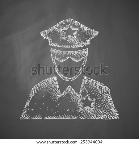 police officer icon - stock photo