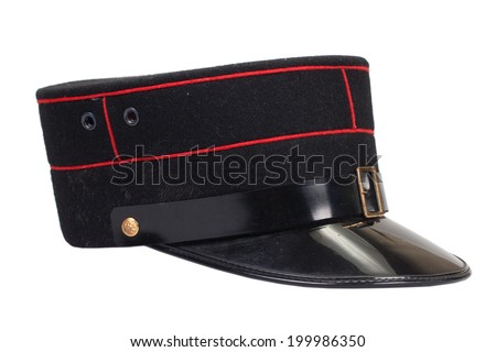 police officer's hat isolated - stock photo