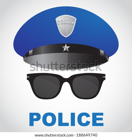 police officer selfie - stock photo
