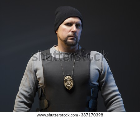 Police officer undercover. - stock photo