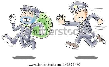 Police Dog Bite Man Money Steal