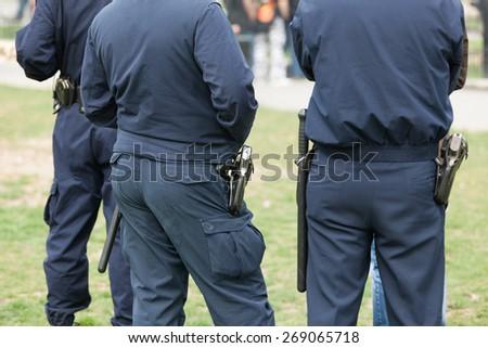 Police patrol - stock photo