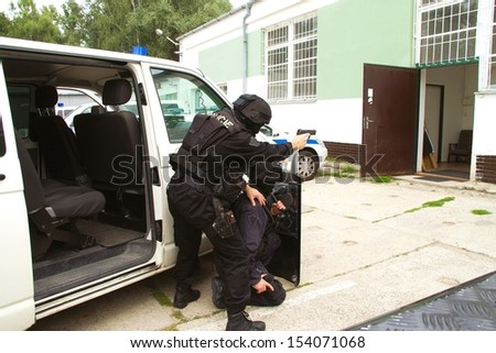 Police special units - stock photo