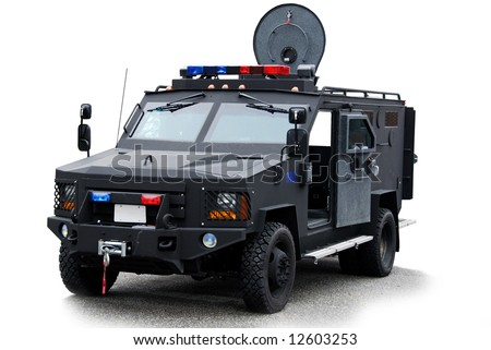 Police SWAT vehicle - stock photo