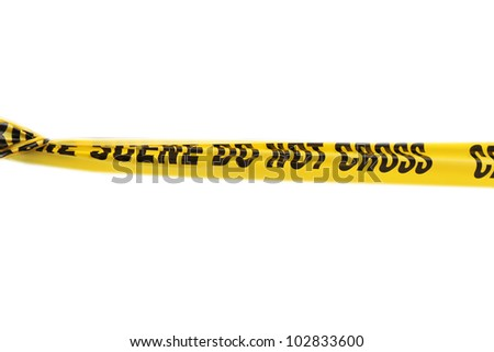 Police tape - stock photo