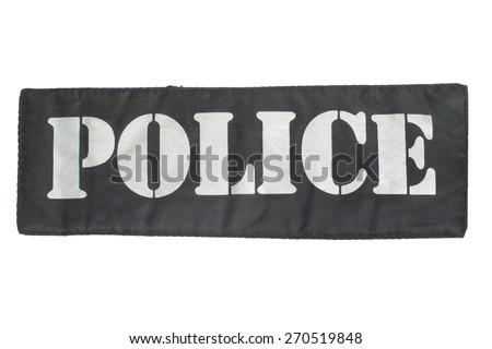 Police uniform badge isolated on white - stock photo