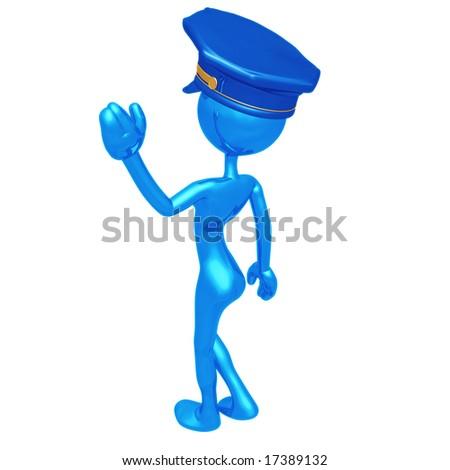 Police Woman - stock photo