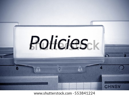 Policies Register Folder Index in the Office