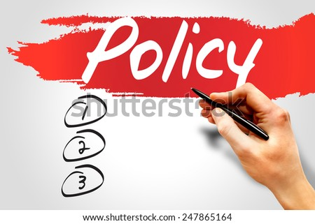 POLICY blank list, business concept - stock photo
