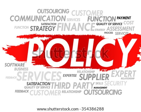 POLICY word cloud, concept background - stock photo