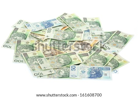 Polish banknotes - stock photo