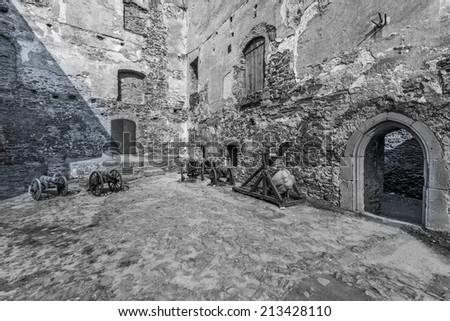 Polish castle in Bolkowie, Europe - stock photo
