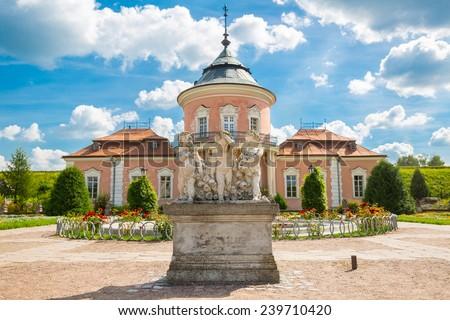 Polish castle, on the territory of modern Ukraine - stock photo