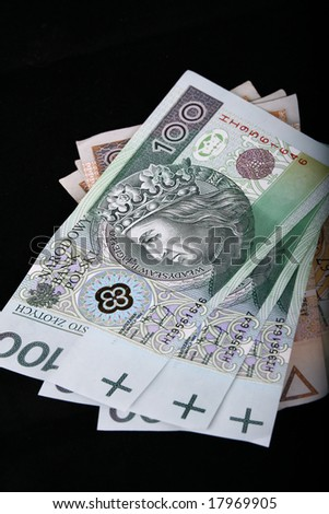 polish currency, banknotes, zloty