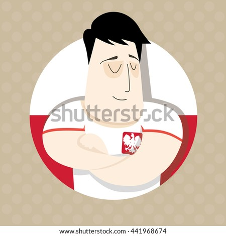 Polish football player  - stock photo