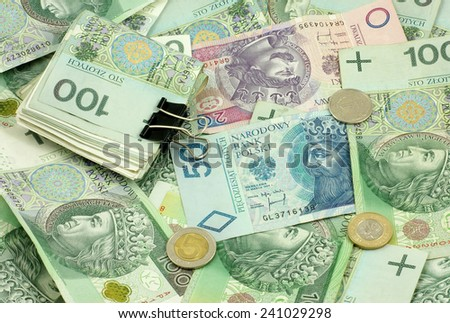 Polish money (bills, coins)